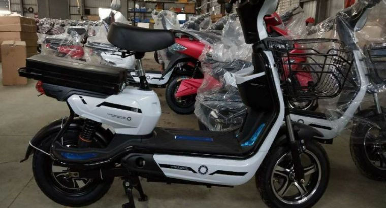 YQ 500w 48v Two Seater Mini City Coco Electric Motorcycle Ebike Scooter NEW