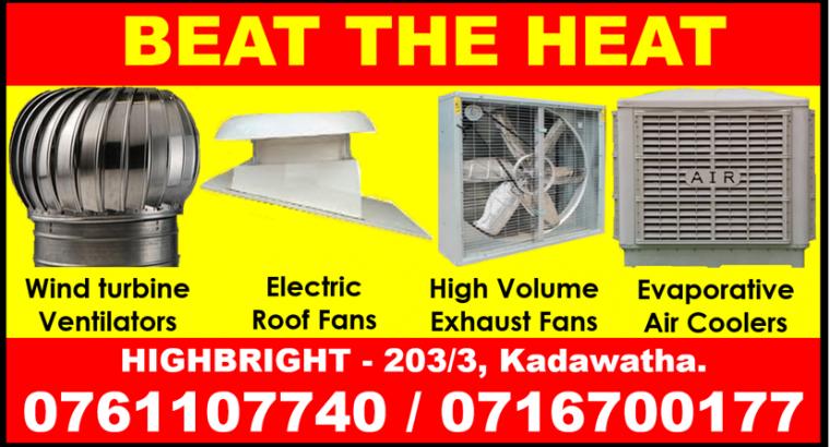 roof extractors srilanka , exhaust fans srilanka ,air coolers , roof exhaust fans srilanka
