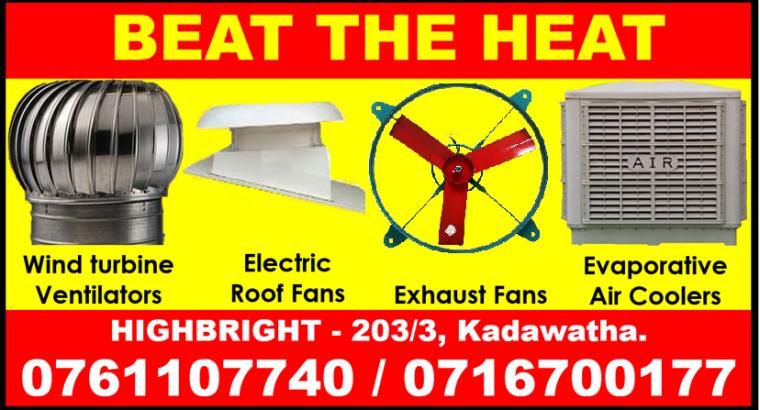 roof extractors srilanka , wall exhaust fans srilanka ,air coolers , roof exhaust fans srilanka