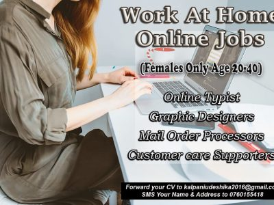 Work at Home Online Jobs