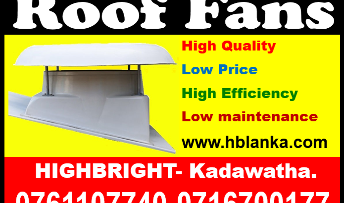 roof exhaust fans, exhaust fans srilanka, ventilation systems, wall fans, roof extractors