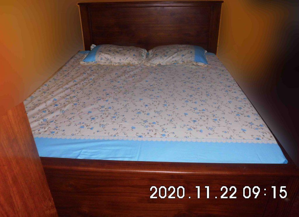 teak bed queen size