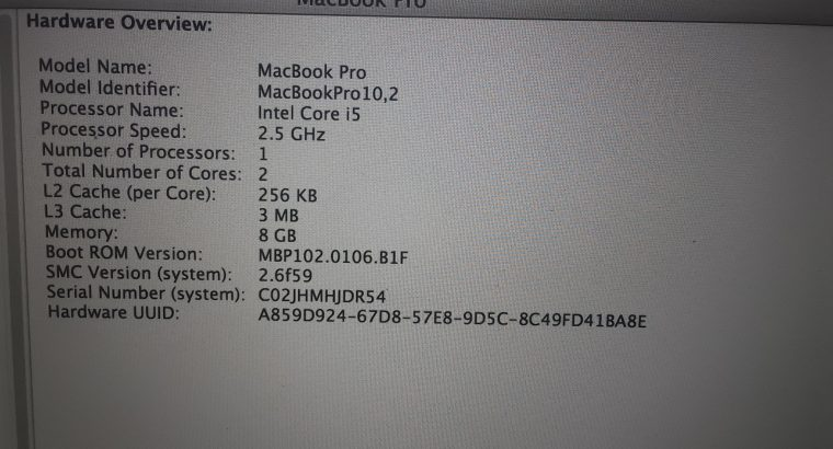 Macbook Pro A1425 – Urgent sale with some Issues