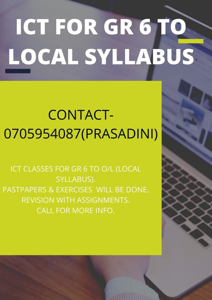 ICT FOR GR 6 TO LOCAL SYLLABUS