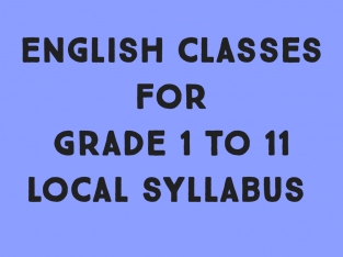 English classes for grade 1 to 11 local syllabus