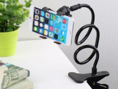 Flexible phone holder