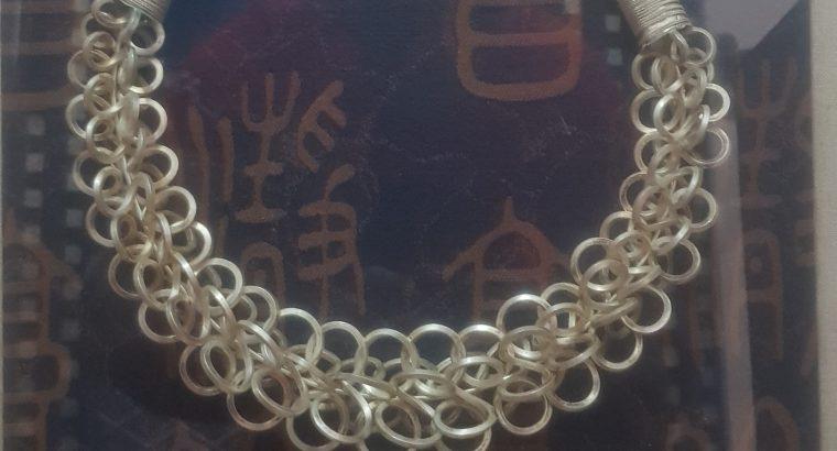 antique silver 925  circle frame