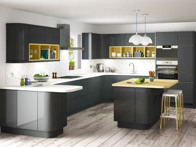 Design colorful Modern kitchen pantry