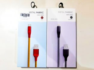 METAL FABRIC LIGHTNING CABLE