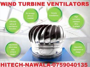 Wind turbine ventilators