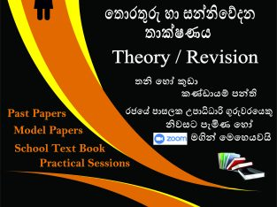 A/L ICT – Theory/ Revision (Grade 12, 13)